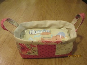 Baby wipes basket