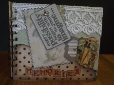 Paper folded tag book