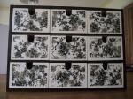 Ikea Moppe Balck floral Decopatch
