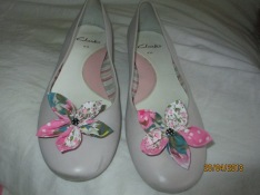 Funky shoes-hand-made bows!