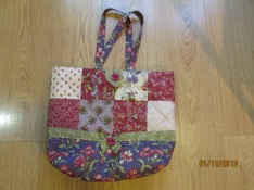 My new patchwork tote bag-front view