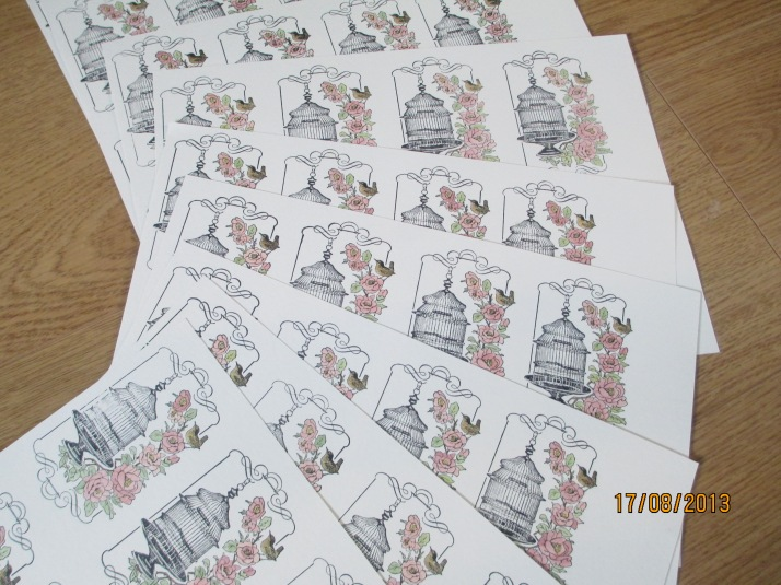 Birdcage stamped images