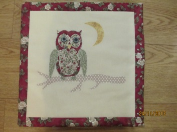Olly Owl cushion-front