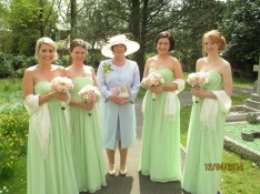 Mother of the Bride and the bridesmaids