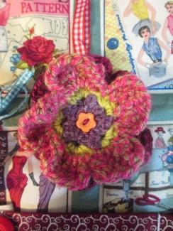 Crochet flower-3d