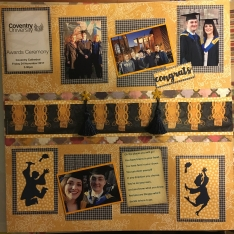 Will's scrapbook graduation page