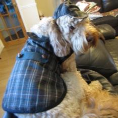 Jasper's Sherlock Holmes coat and hat